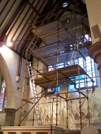 Removing panels.