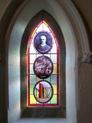 Window dedicated to his memory.